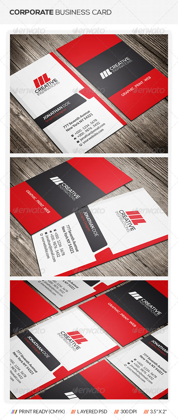 GraphicRiver Corporate Business Card 7061187