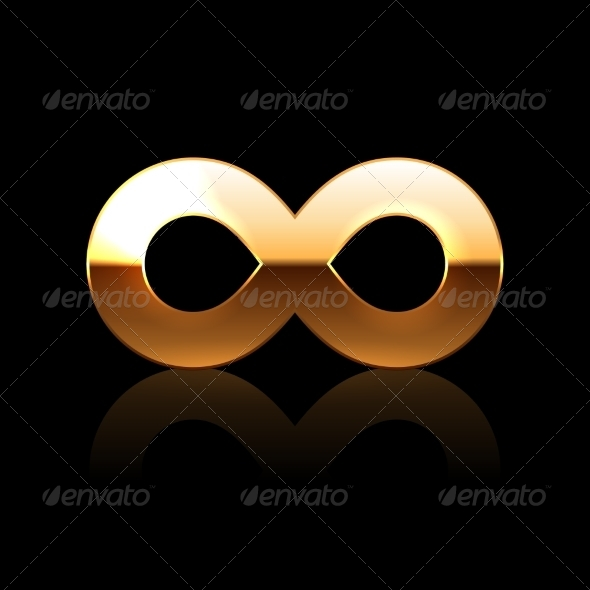 GraphicRiver Golden Infinity Symbol 7061197