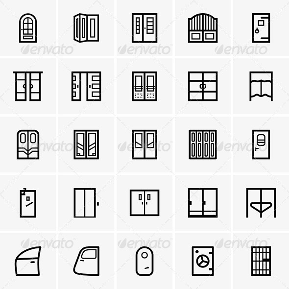 GraphicRiver Door Icons 7061278