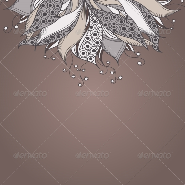 GraphicRiver Template for Card with Fantasy Flower 7061701