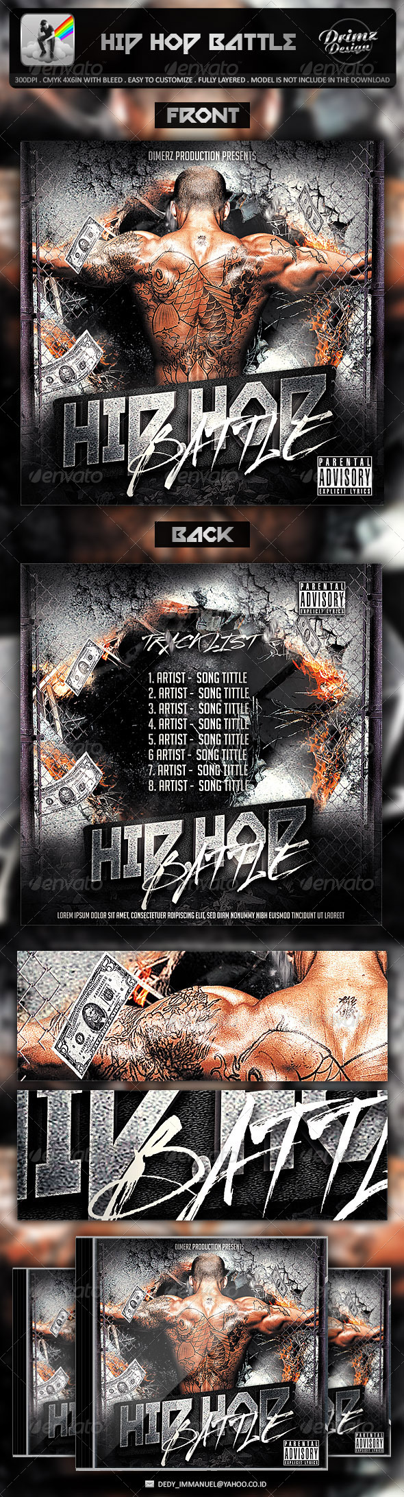GraphicRiver Hip Hop Battle Mixtape Template 7062060