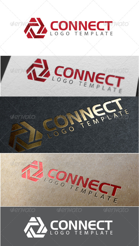 GraphicRiver Connect Logo Template 7062508