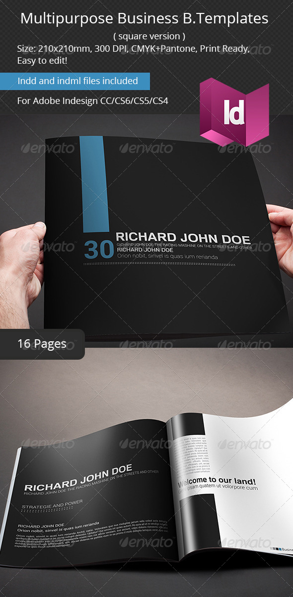 GraphicRiver Multipurpose Business Brochure Square Version 7062514