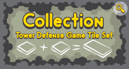 Collection Tower Defense Game Tile Set