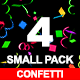 4 Confetti Small Pack - VideoHive Item for Sale