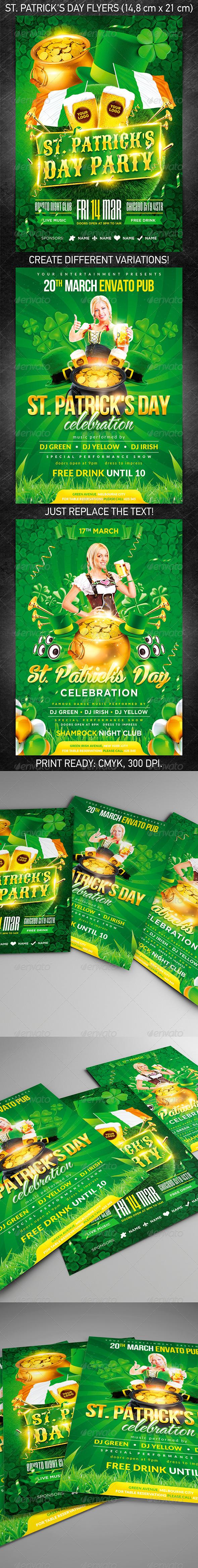 GraphicRiver St Patrick s Day Flyer Bundle 7064485