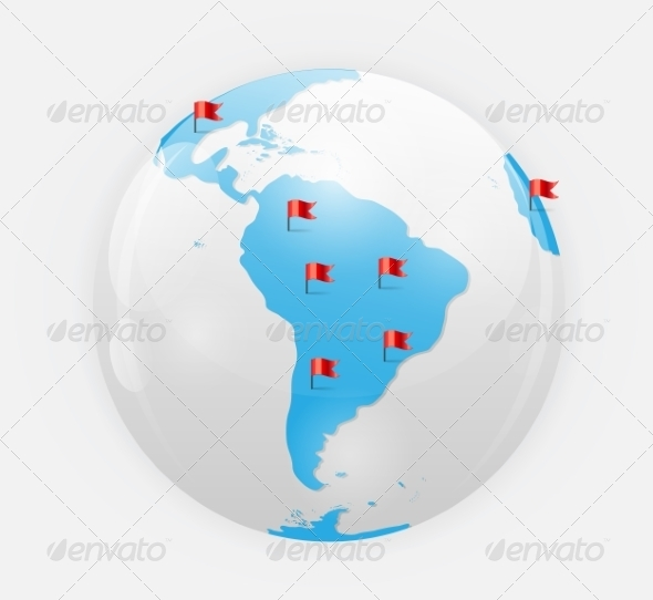 GraphicRiver Globe Icon Illustration 7064921