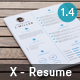 X Clean Resume - GraphicRiver Item for Sale