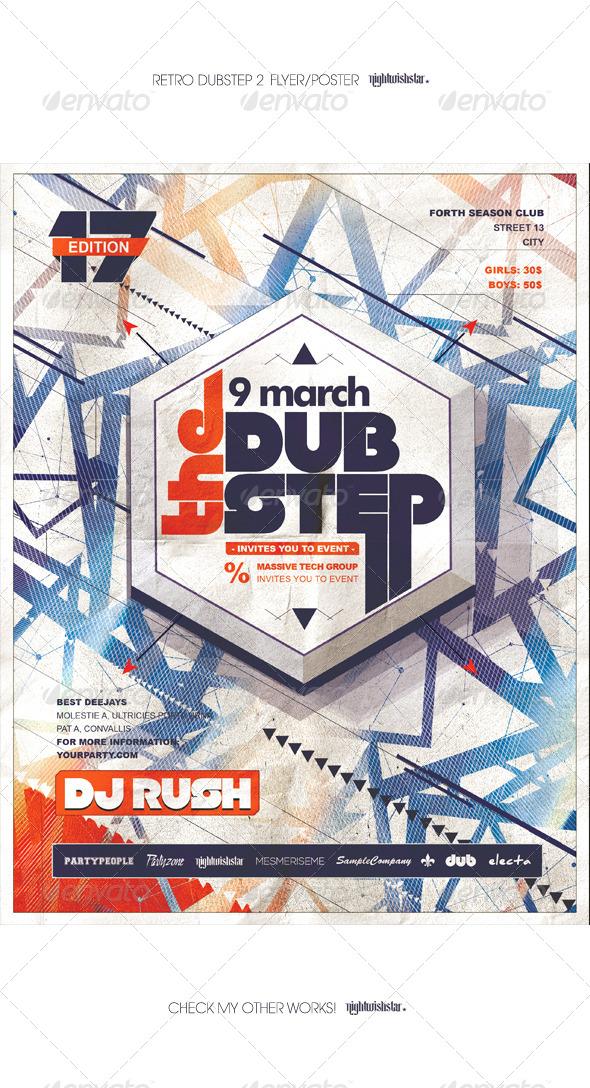 GraphicRiver Retro Dubstep 2 Poster Flyer 7050199