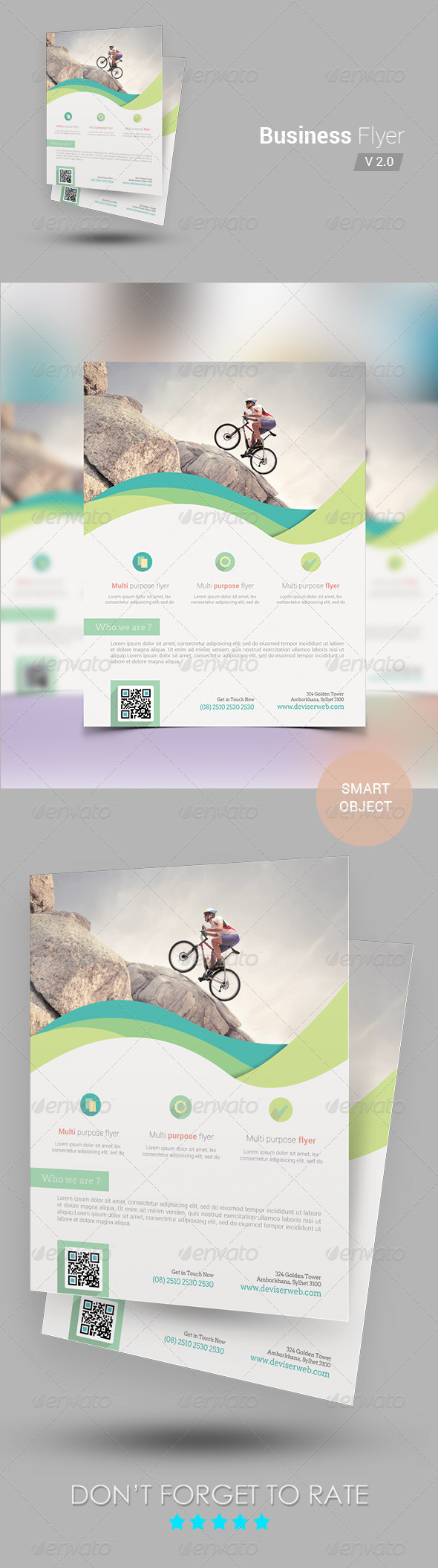 GraphicRiver Corporate Business Flyer Template v2 7065811