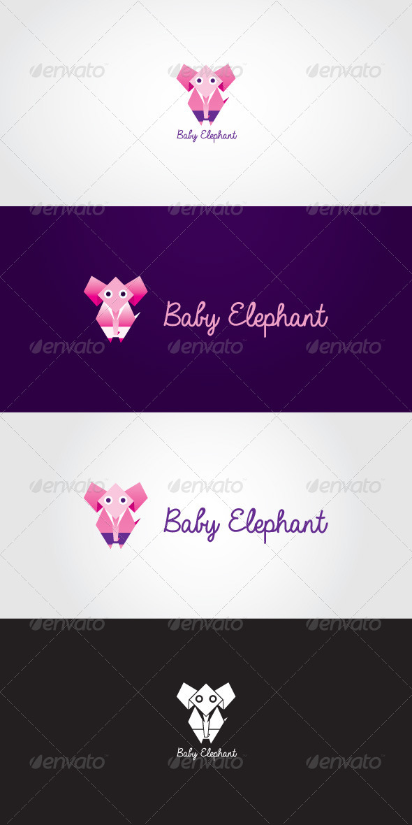 GraphicRiver Baby Elephant Stock Logo Template 7065955