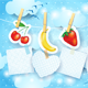 Fruits and Labels on Sky Background - GraphicRiver Item for Sale