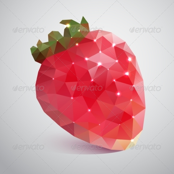GraphicRiver Strawberries Made of Triangles 7066797