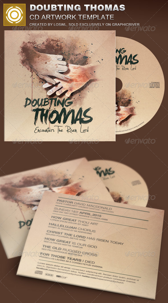 GraphicRiver Doubting Thomas CD Artwork Template 7067218