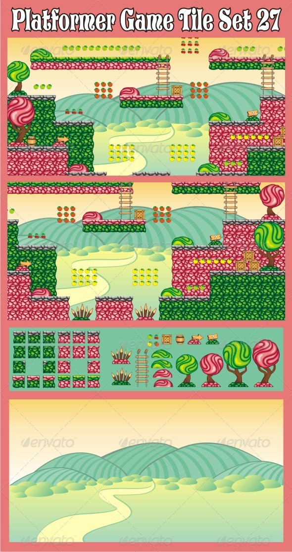 GraphicRiver Platformer Game Tile Set 27 7067427