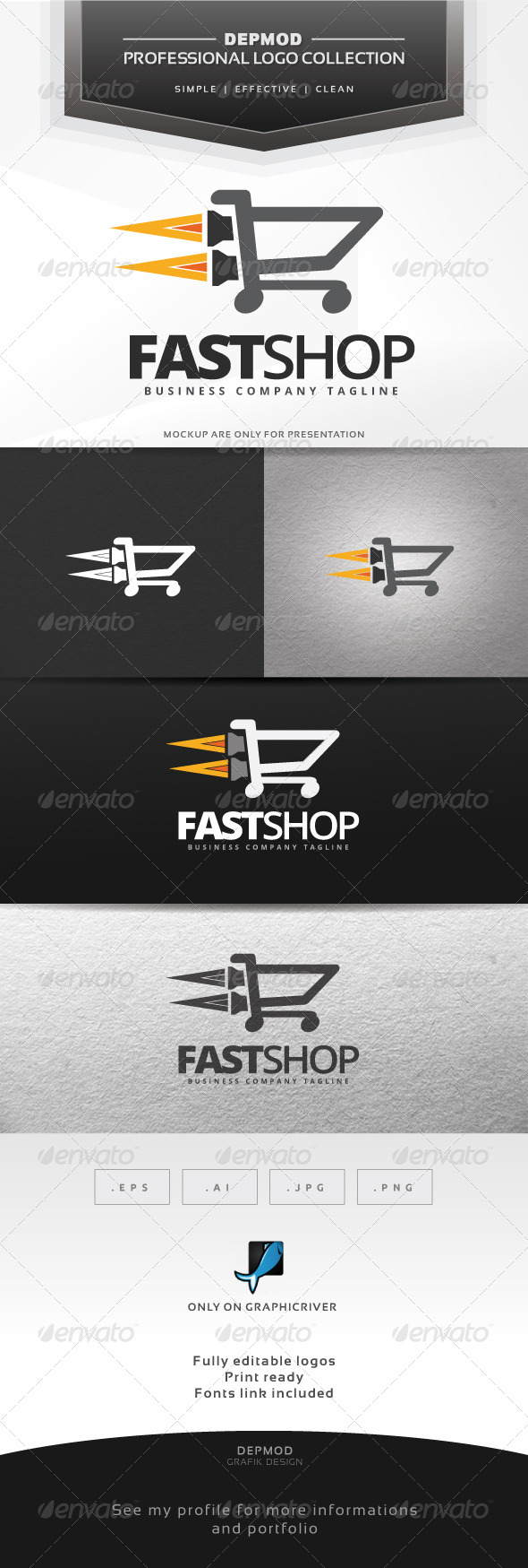 GraphicRiver Fast Shop V.02 Logo 7067611