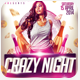 Crazy Woman Gold Night Flyer - GraphicRiver Item for Sale