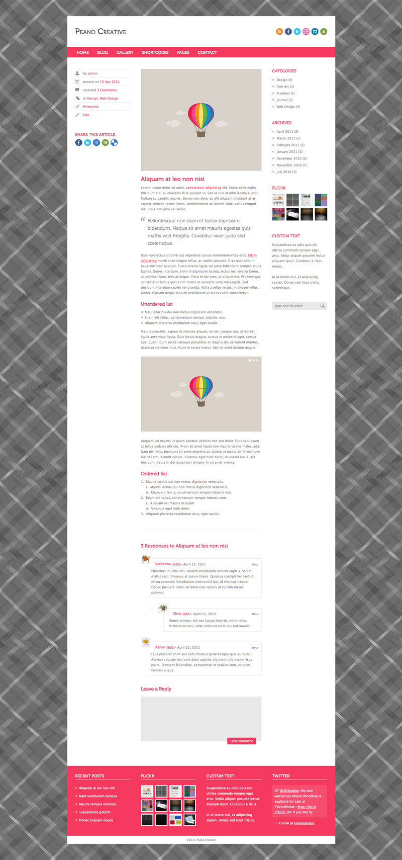 Peano Creative - Wordpress Portfolio & Blog Theme