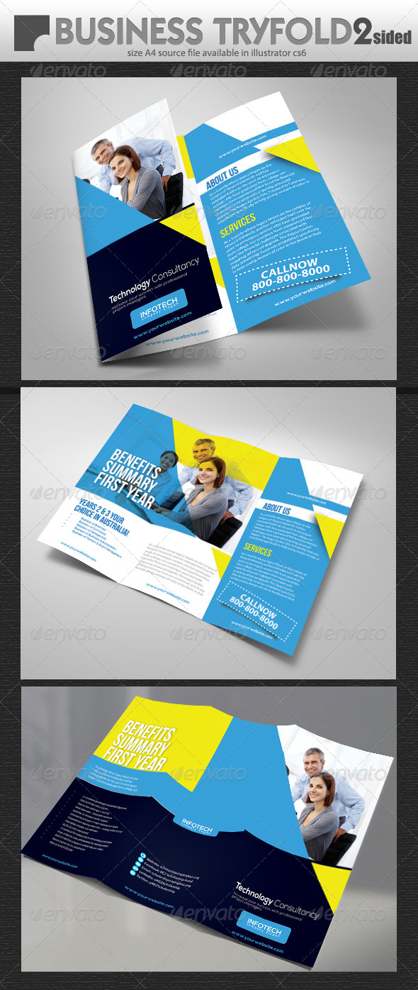 GraphicRiver Business Trifold Brochure Design 7067851