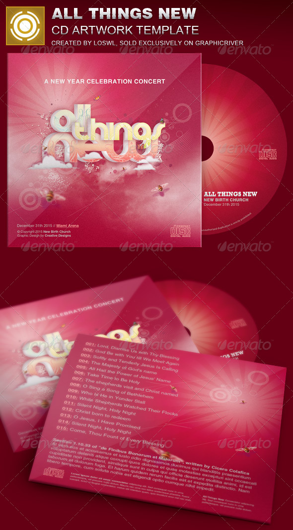 GraphicRiver All Things New CD Artwork Template 7067966