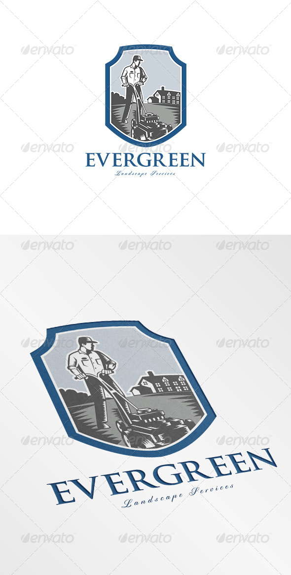 GraphicRiver Evergreen Landscape Services Logo 7068039