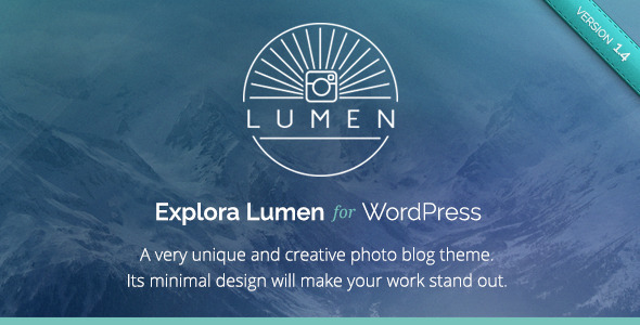 Lumen - Responsive Photography WordPress Theme - Photography Creative