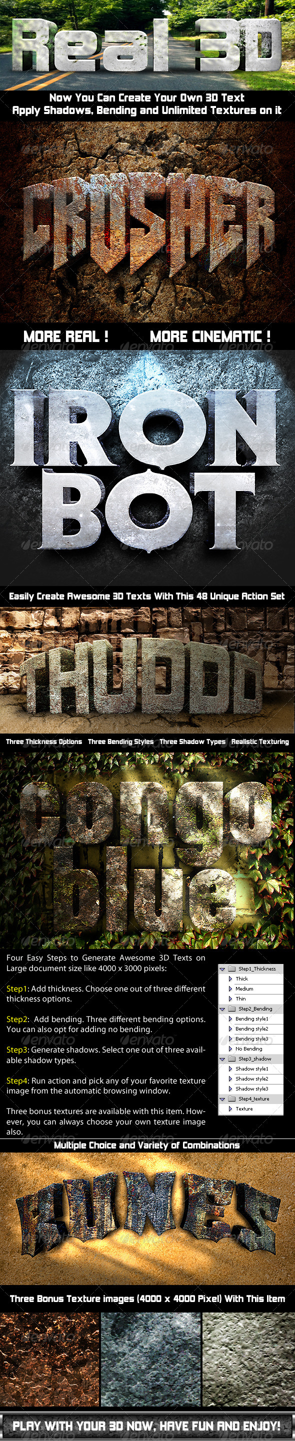 Photoshop Text Effect: Cinematic 3D Actions - Text Effects Actions