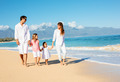 Family walking on the beach - PhotoDune Item for Sale