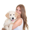 young woman with pet dog - PhotoDune Item for Sale