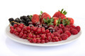 plate of red summer fruits and berries - PhotoDune Item for Sale