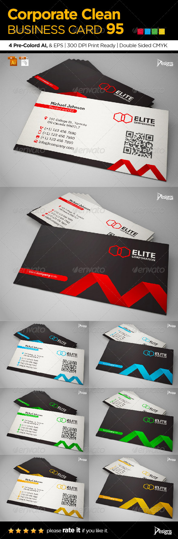 GraphicRiver Simple and Clean Business Card 95 7068825