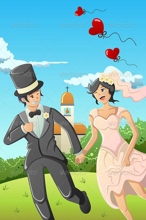 GraphicRiver Happy Wedding Couple 7068827
