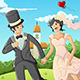 Happy Wedding Couple - GraphicRiver Item for Sale