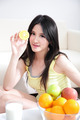 woman with fresh fruits orange - PhotoDune Item for Sale