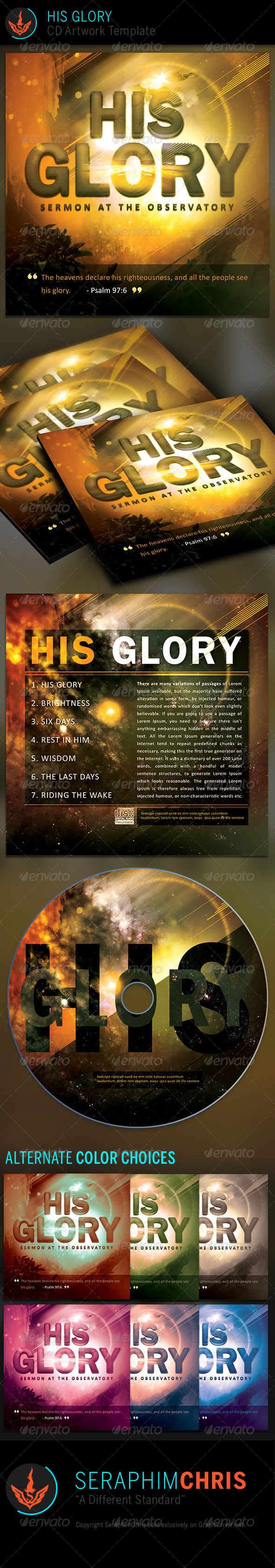 GraphicRiver His Glory CD Artwork Template 7069945