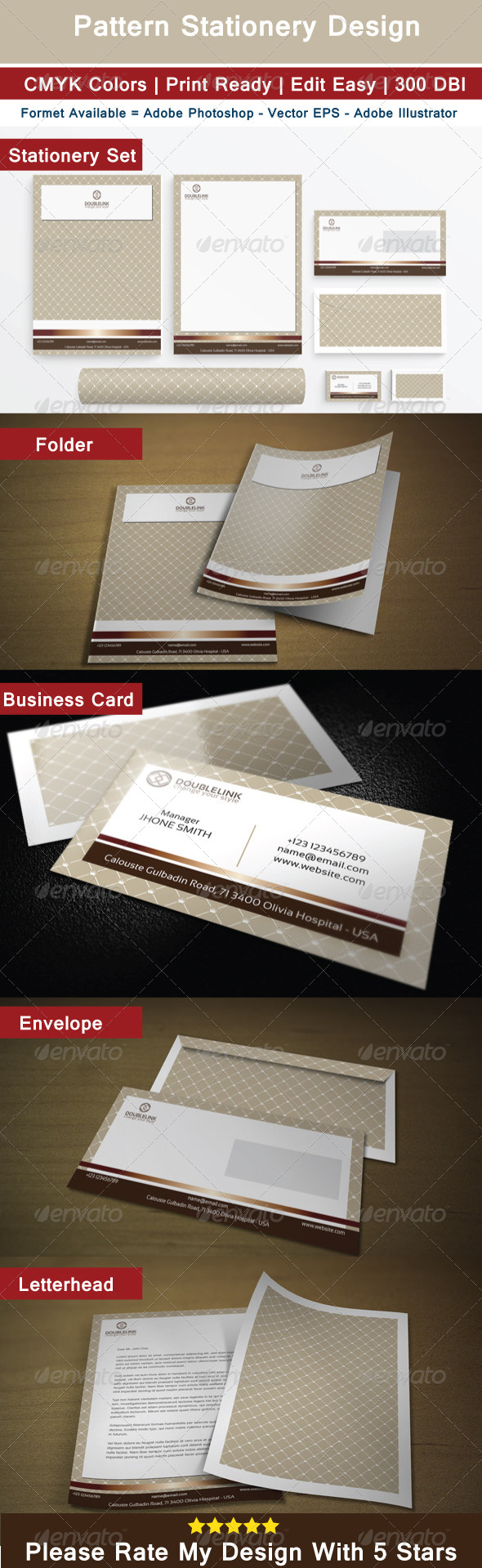 GraphicRiver Pattern Stationery Design 7053489