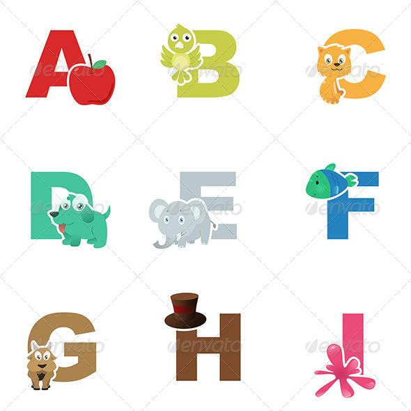 GraphicRiver Alphabet Illustration 7070254