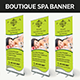 Boutique Spa Banner - GraphicRiver Item for Sale