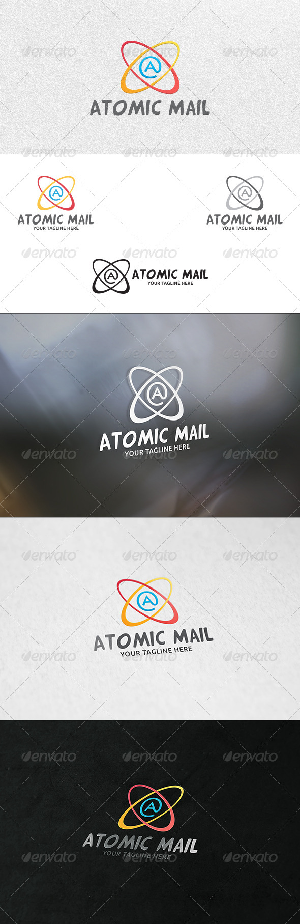 GraphicRiver Atomic Mail Logo Template 7071441