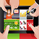 People Using Tablet PC - GraphicRiver Item for Sale