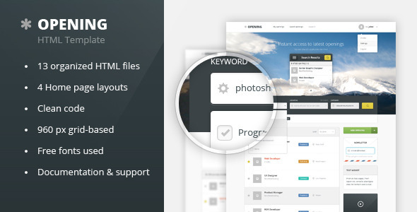 ThemeForest Opening Job Board HTML Template 7074792