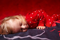 Girl toddler dressed in her pajamas sleeping - PhotoDune Item for Sale