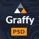 Graffy - Flat Modern PSD Template - ThemeForest Item for Sale