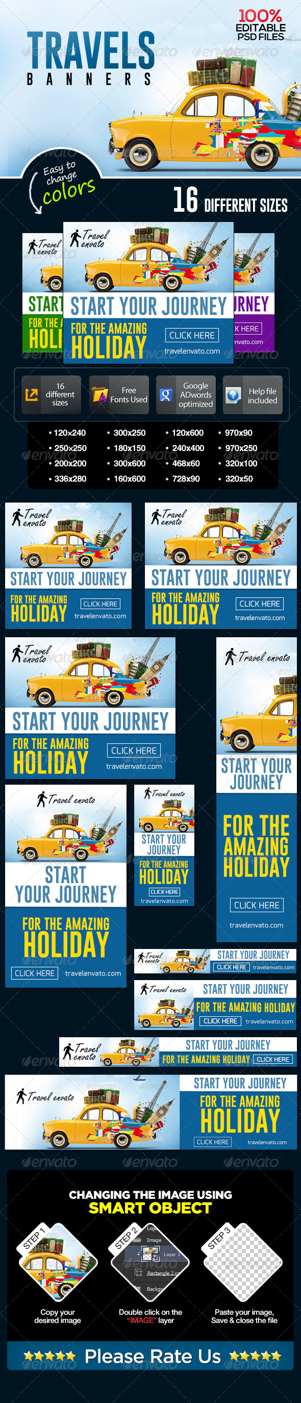 GraphicRiver Travel Banner Set 7076546