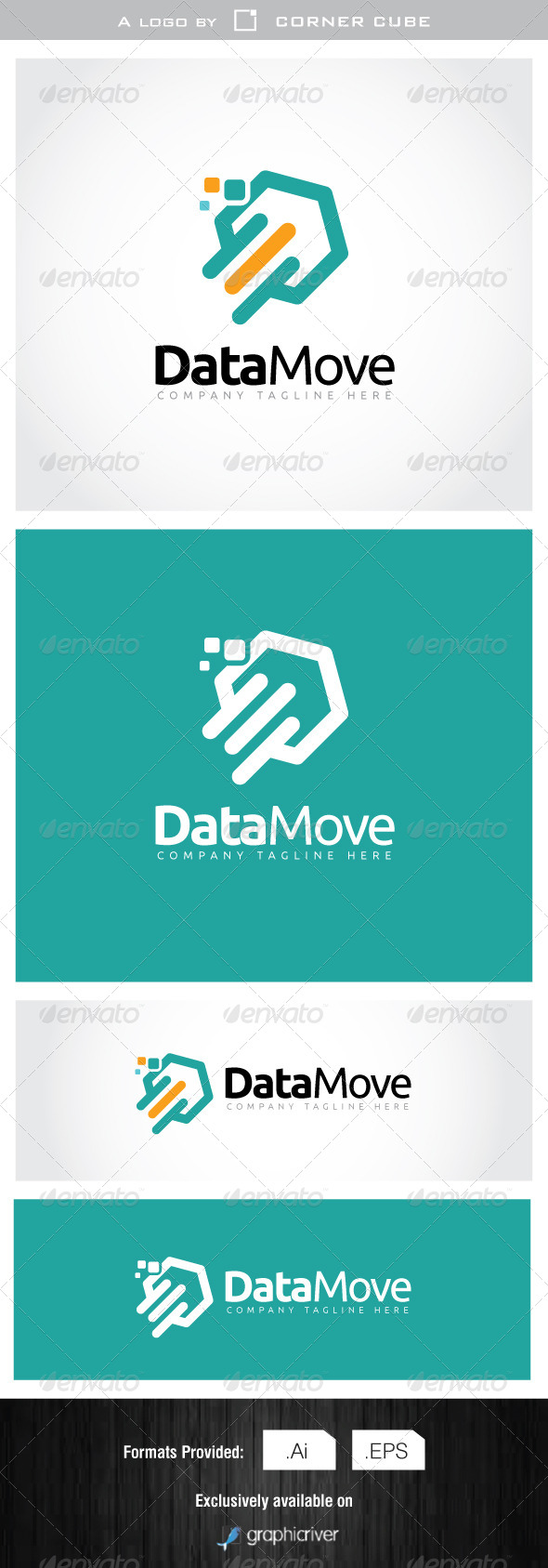 GraphicRiver Data Move Logo 7078050