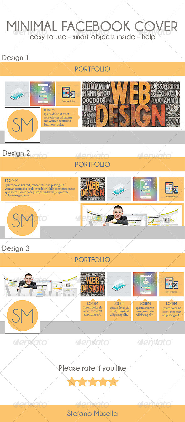 GraphicRiver Minimal Facebook Cover 7068433