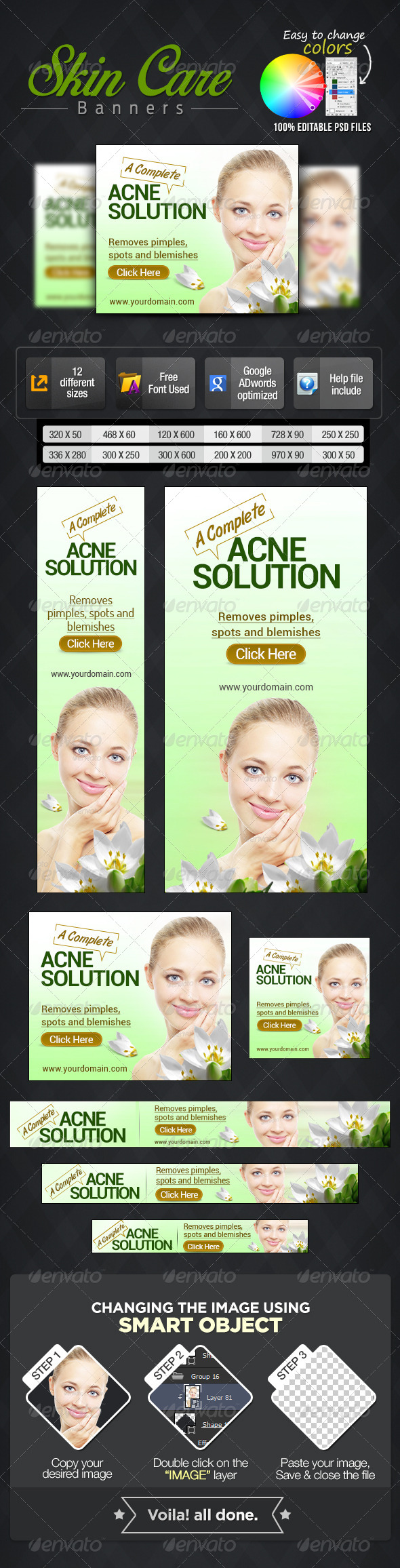 GraphicRiver Banner Set for Skin Care Products 7078867