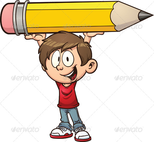 GraphicRiver Boy and Pencil 7079065