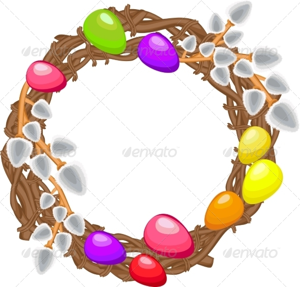 GraphicRiver Easter Wreath 7081644