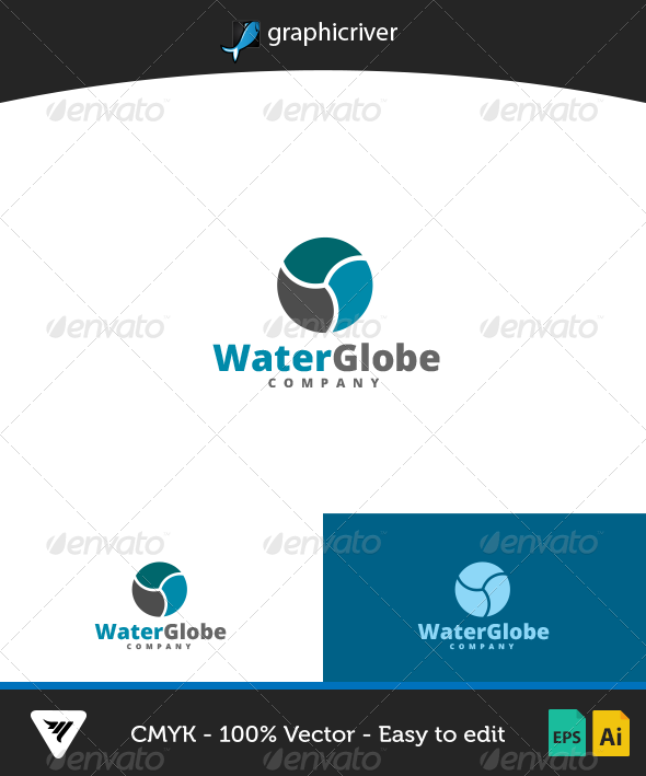 GraphicRiver WaterGlobe Logo 7082730